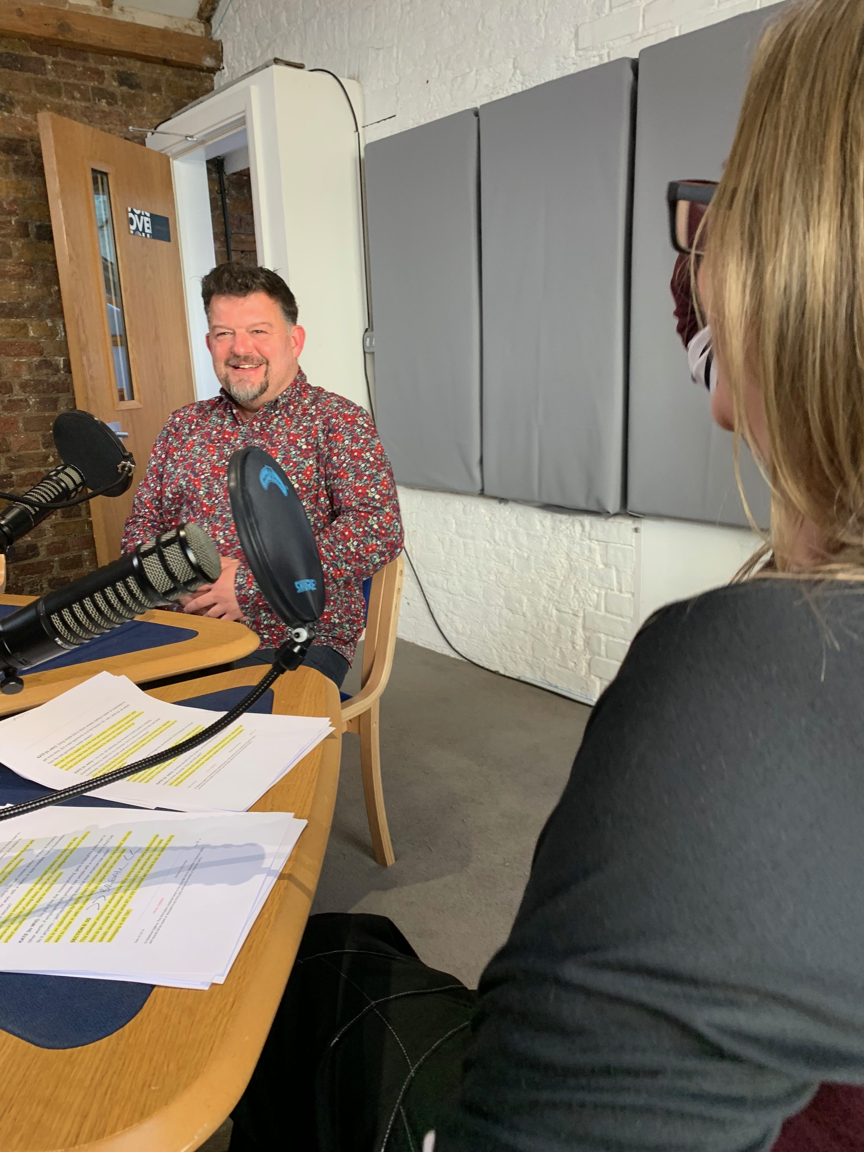 Stefan Thomas being interviewed on the BT Business Podcast