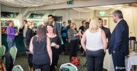 A business networking event