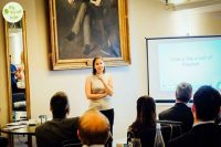 Claire McTernan talking about business networking